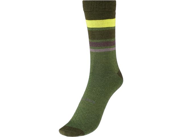 Endura BaaBaa Merino Stripe Socks Men, Oliva/verde